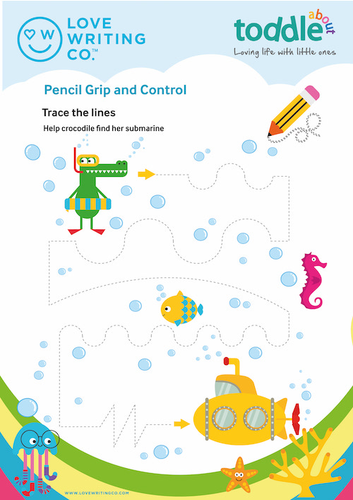 Pencil Grip and Control Activity Sheet  image