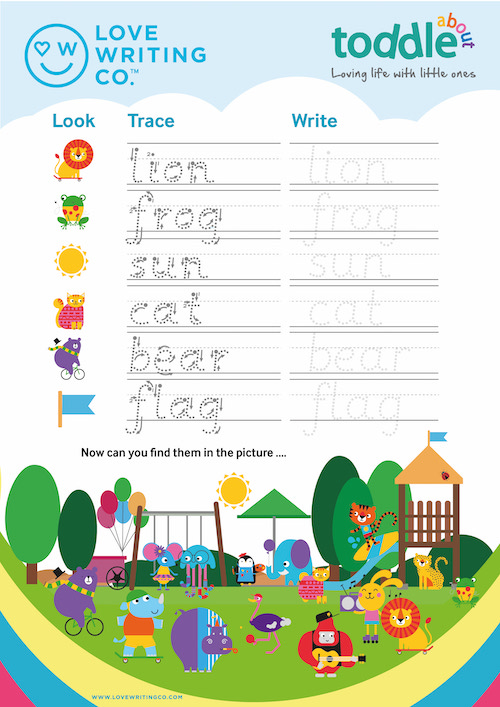 Look, Trace and Write Activity Sheet  image