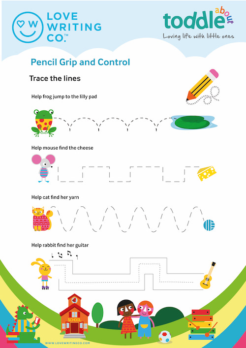 Trace the lines activity sheet  image