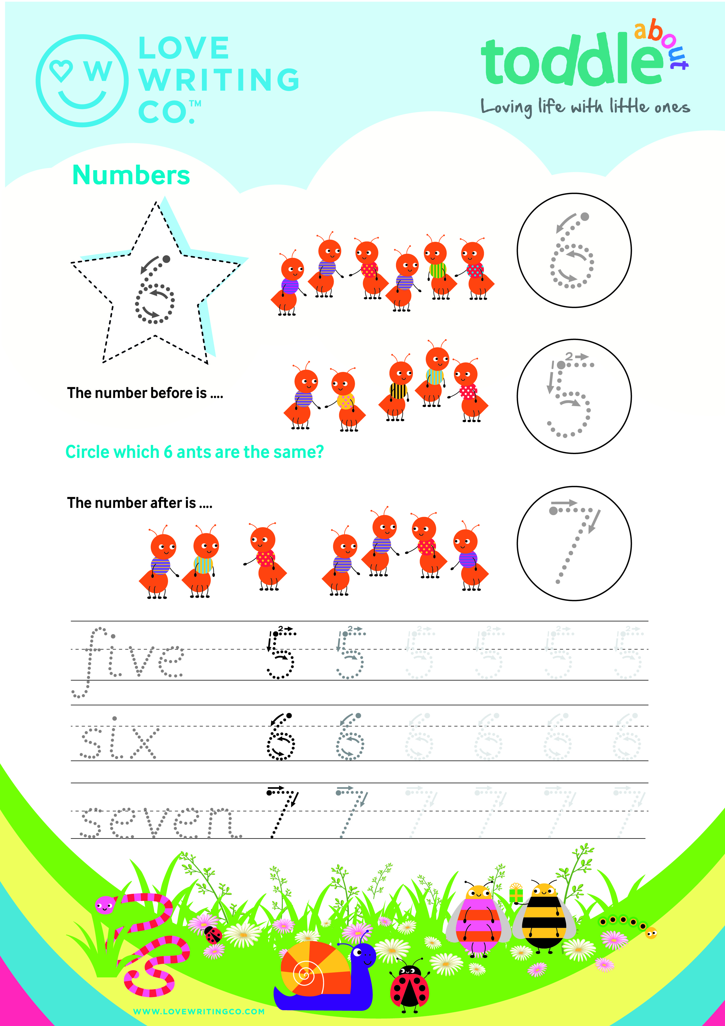 Trace the Numbers Activity Sheet  image