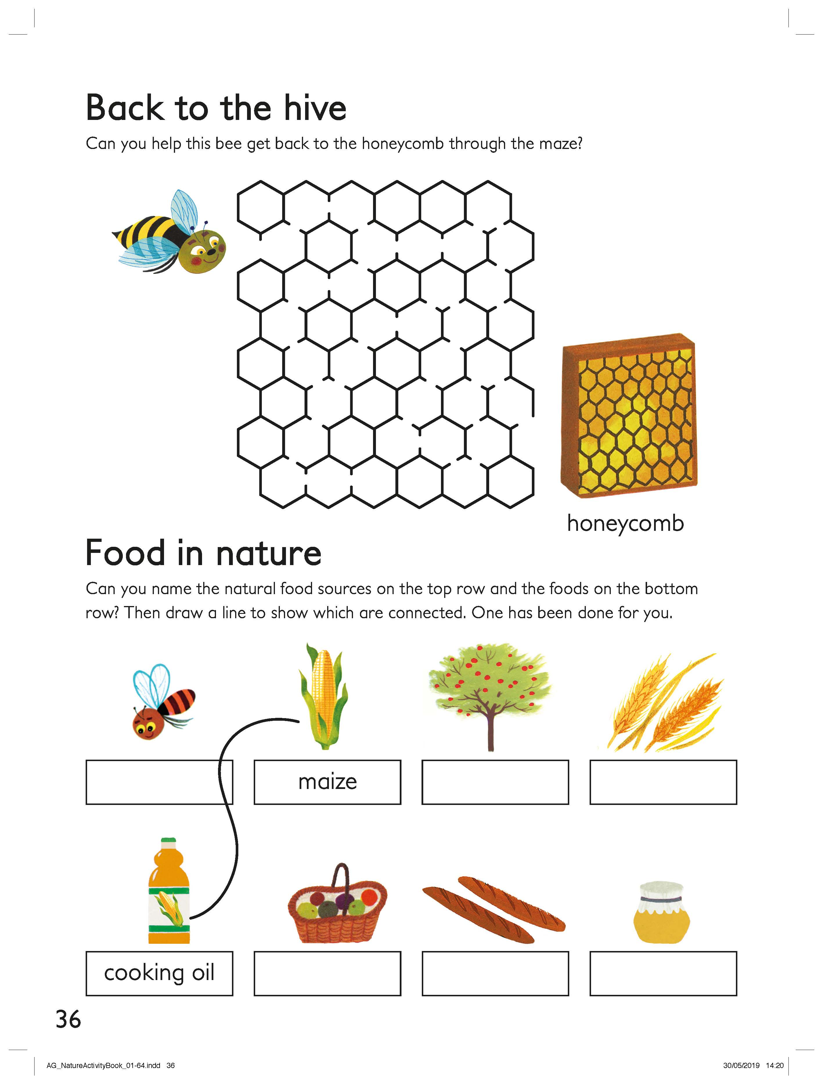 Nature Puzzles Activity Sheet  image