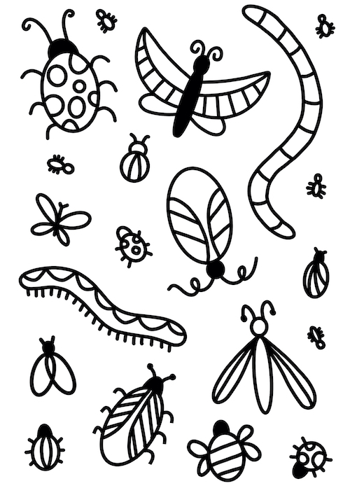 Bugs Colouring In Activity Sheet   image