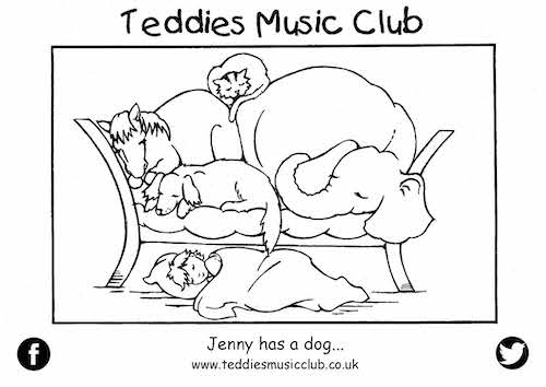 Jenny Has a Dog Colouring in Activity Sheet  image