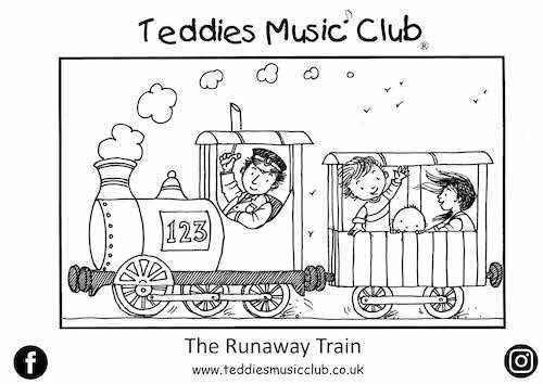 Runaway Train Colouring In Activity Sheet  image