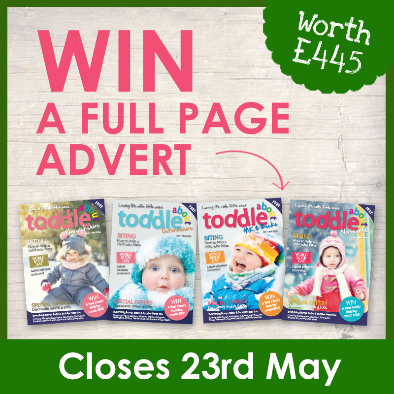 Win a Full Page Advert in the Toddle About Magazine worth £445  image