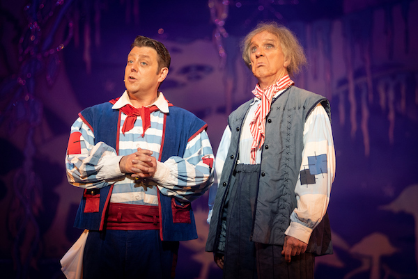 The Grumbleweeds as Smee and Starkey - perfect comic timing and delivery