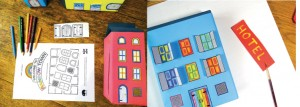 If you prefer to use print-ready doors and windows, you can download the free printable from www.boxofideas.uk/town